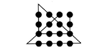 Головоломка о том, как соединить 9 точек 4 линиями, и аналогичные ей задания