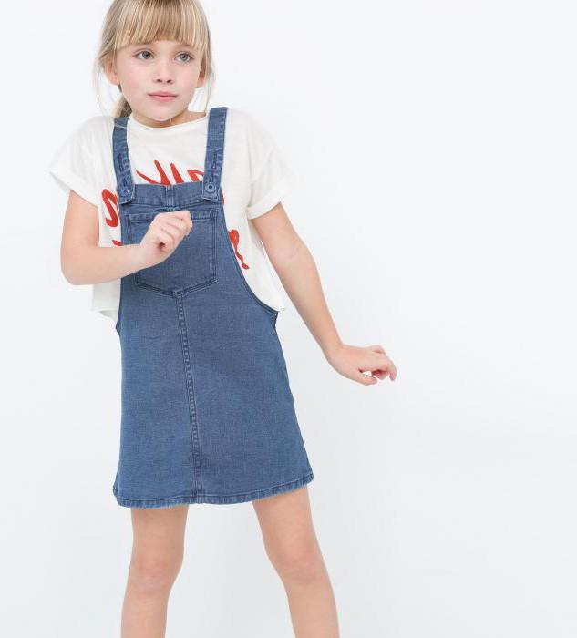 детские джинсовые сарафаны для девочек