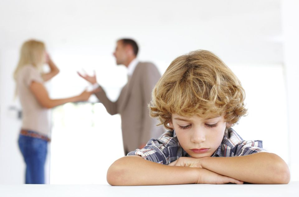 Children suffer from divorces