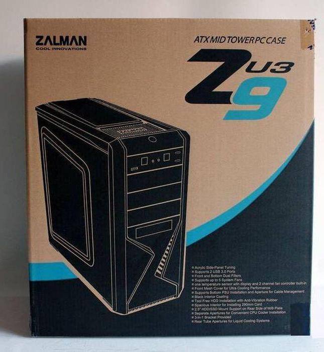 Корпус Zalman Z9 Plus Black w/o PSU