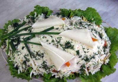 Салат каллы. Рецепт