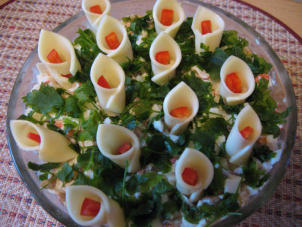 Салат каллы рецепты с фото