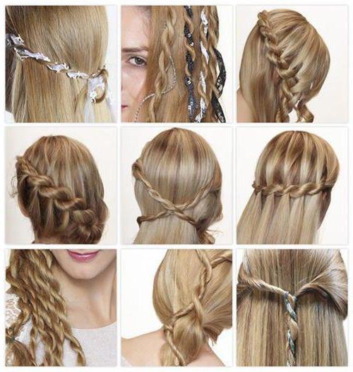 прически со жгутами на средние волосы