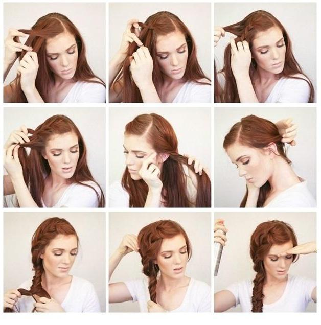 прически на длинные волосы поэтапное фото своими руками