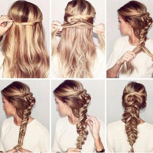 прическа на длинные волосы поэтапное фото