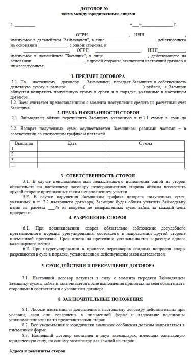 договор целевого займа между юридическими лицами образец - фото 3
