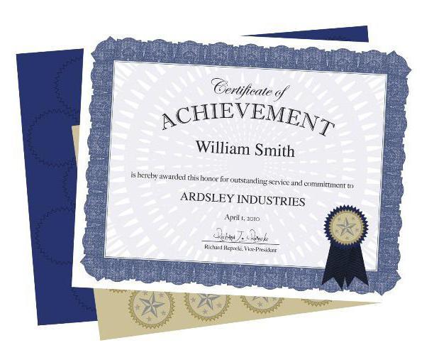 Сертификаты - это что? Виды сертификатов