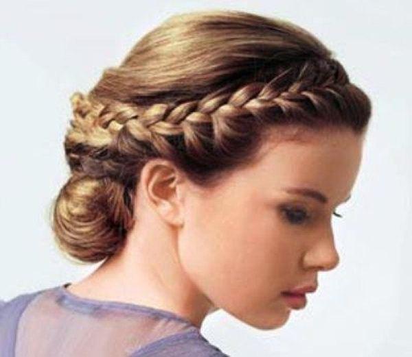 объемные косы на средние волосы