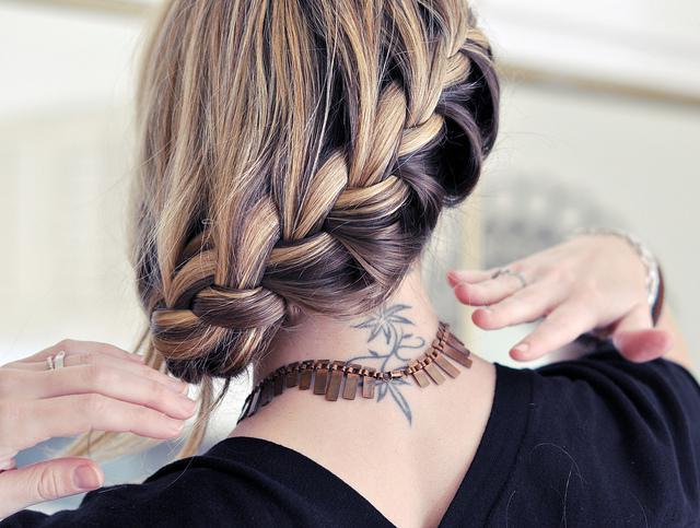 плетение объемных кос на средние волосы схемы