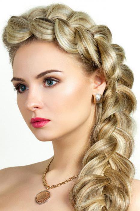 объемная коса на средние волосы