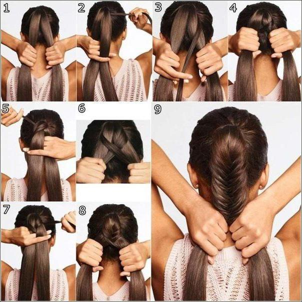 плетение объемных кос на средние волосы