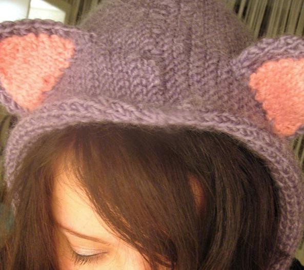 шапка с кошачьими ушками фото