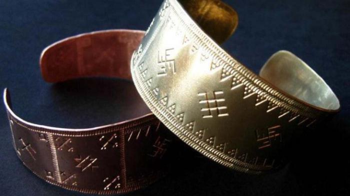 серебряный браслет оберег
