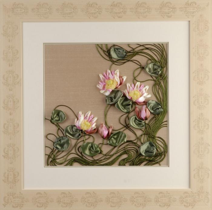 вышивание лентами для начинающих мастер класс лилии