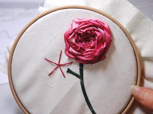 вышивка лентами цветы розы