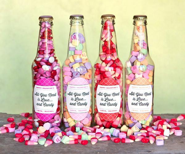 оформление бутылки конфетами своими руками