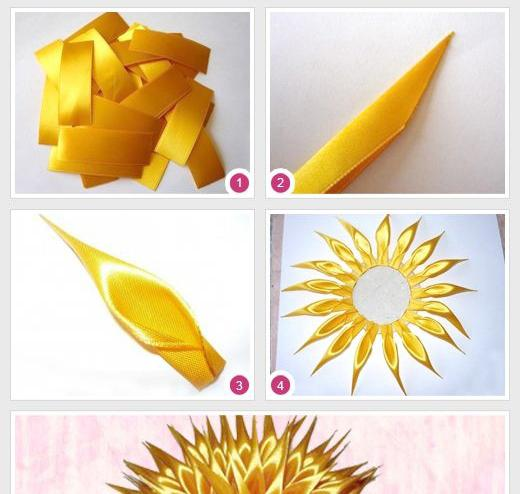 flowers from satin ribbons do it yourself step by step