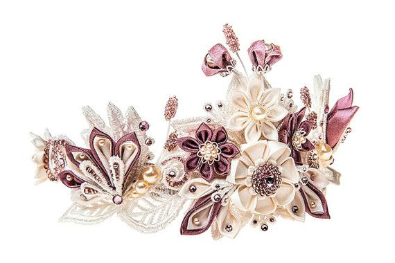 цветок из атласной ленты мастер класс фото