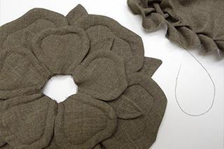 декоративная подушка роза выкройка
