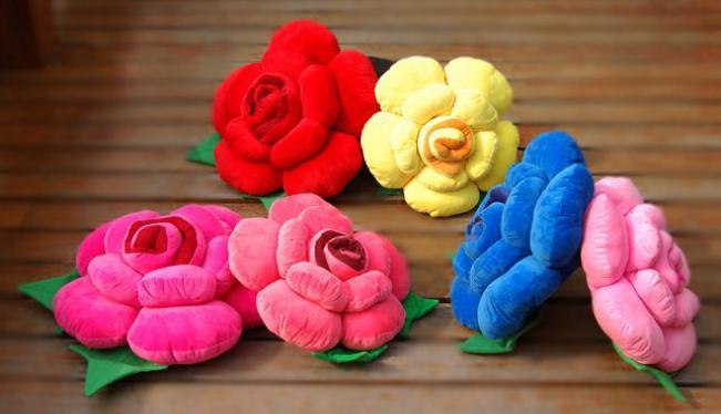 выкройка подушки роза своими руками