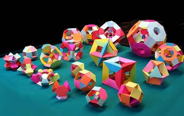 Объемные поделки из геометрических фигур объемные