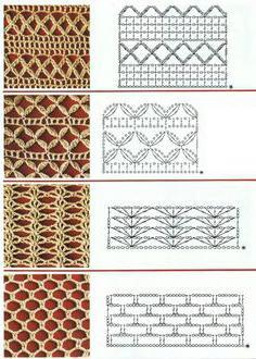 Сетка крючком, схема вязания