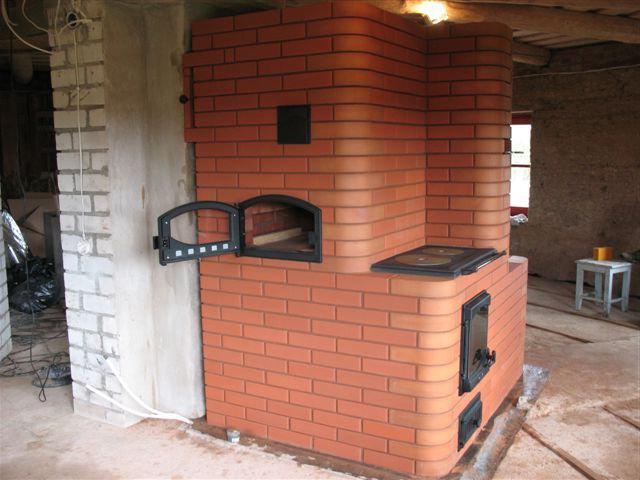печь из кирпича для дома проекты