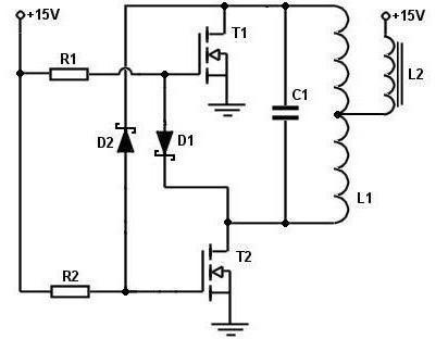схема простого индукционного нагревателя
