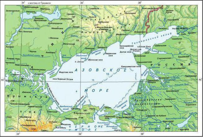 Азовское море где оно находится