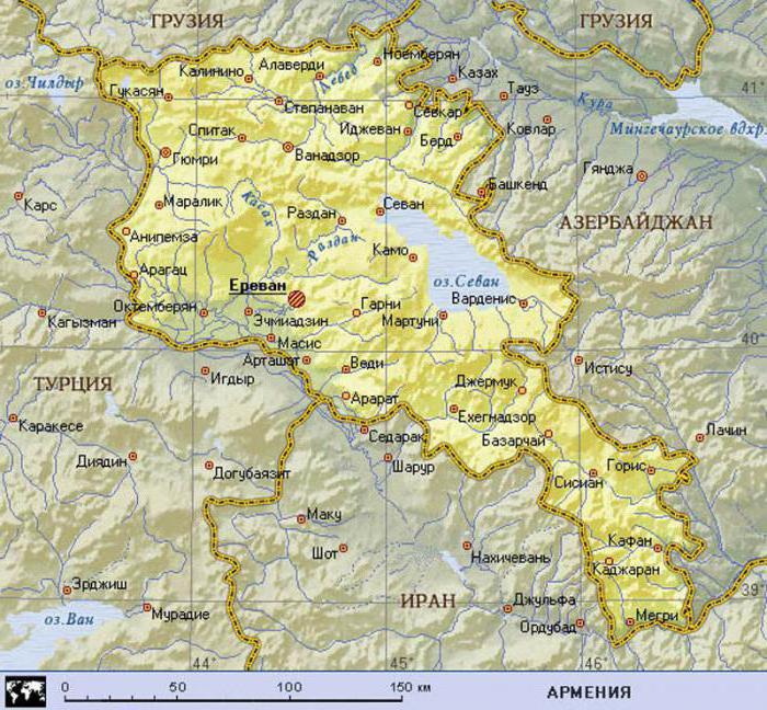 территория армении