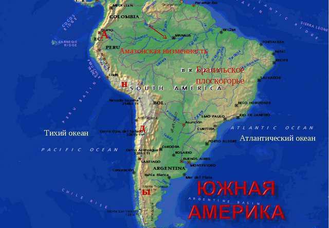 амазонская низменность высота