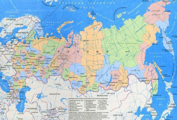 физико географическое положение россии