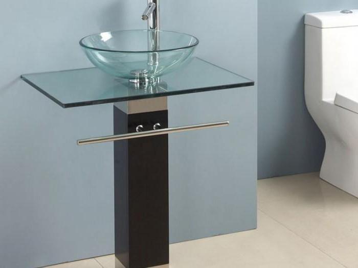 стеклянная раковина в ванную