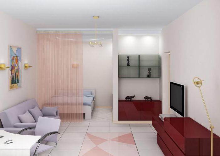зонирование комнаты на спальню