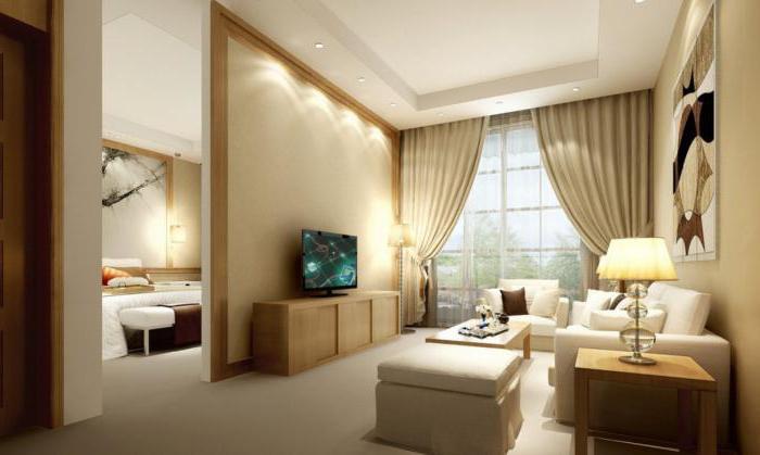 зонирование гостиной и спальни 18 кв м