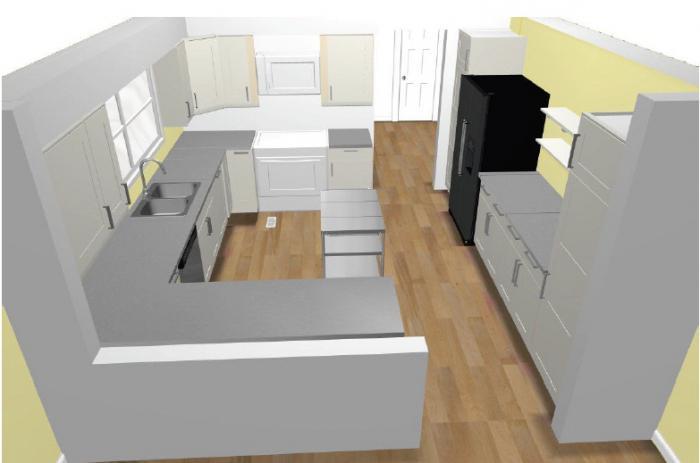 дизайн-проект кухни по индивидуальным размерам