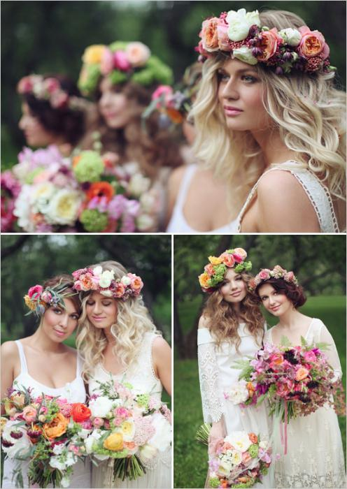 Свадьба в стиле бохо. Оригинальное свадебное платье в стиле бохо для невесты