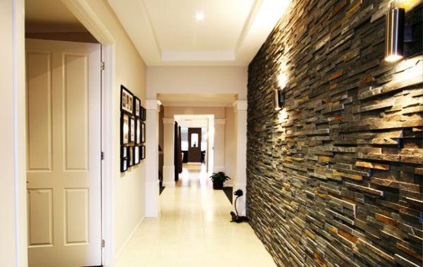 варианты отделки стен в прихожей декоративным камнем