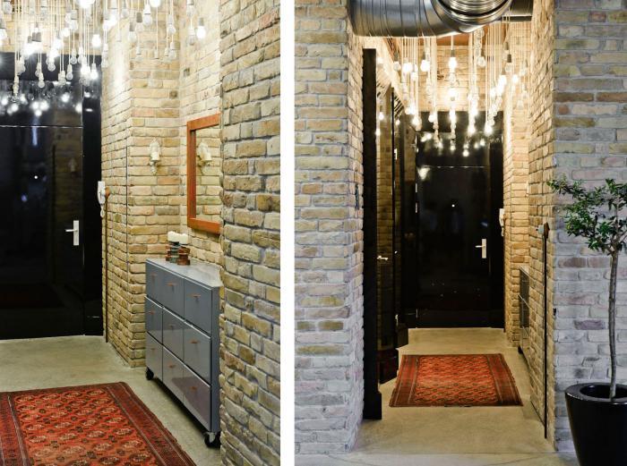 варианты отделки стен в прихожей декоративным кирпичом