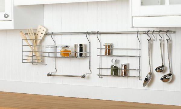 как установить рейлинги на кухне
