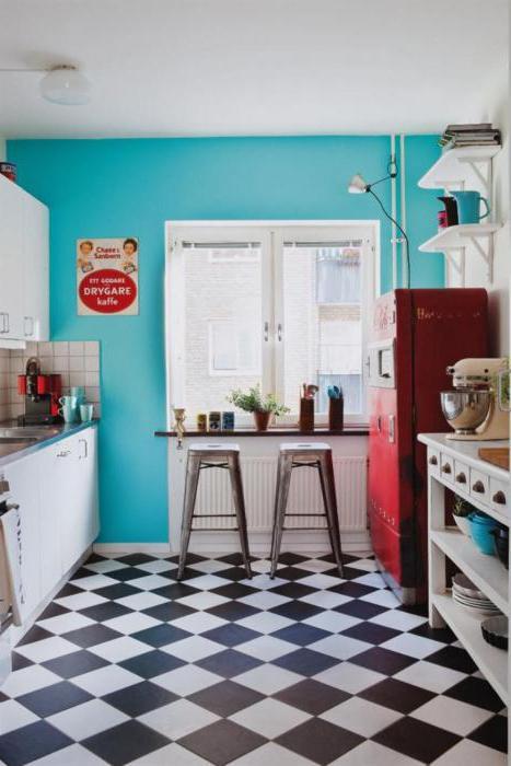 Черно белый интерьер на кухне