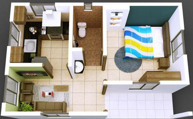 планировка 2 х комнатной квартиры