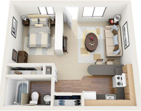 схема планировки 2 х комнатной квартиры