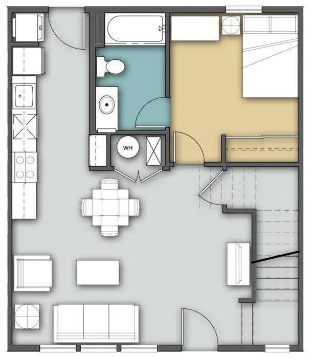 планировка кухни объединенной с гостиной