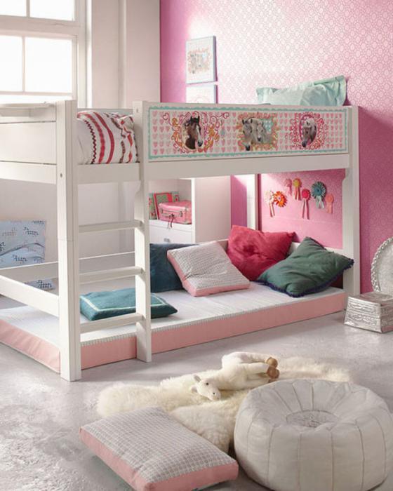 двухъярусная кровать для девочек