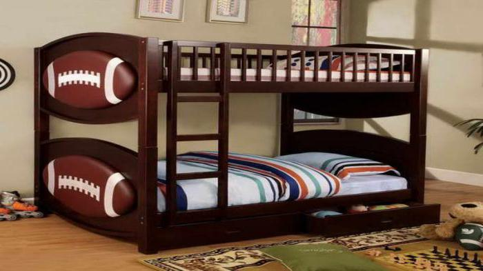 детская двухъярусная кровать из массива сосны