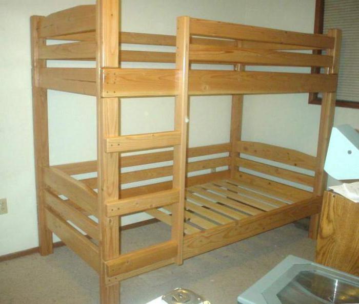 двухъярусная кровать из массива фото