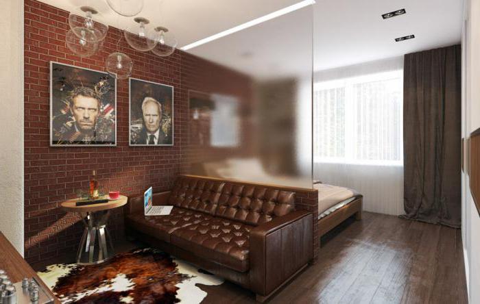 зонирование комнаты с помощью перегородки стекло