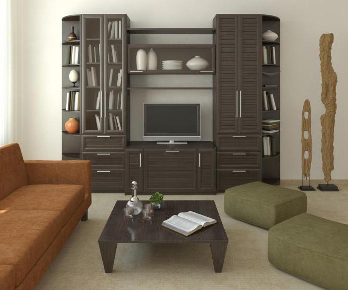 стенка в гостиную в современном стиле с угловым шкафом