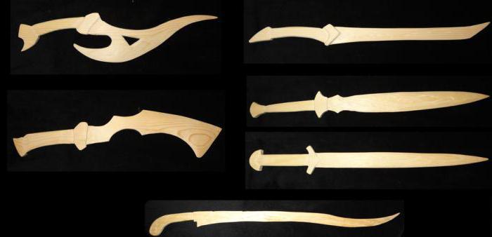 фото мечи из дерева